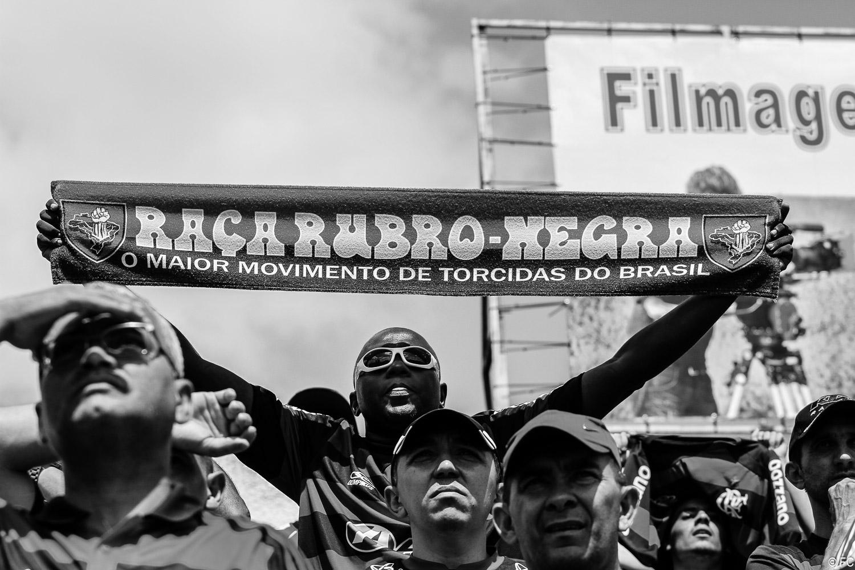 Fotos das torcidas em Bahia x Flamengo
