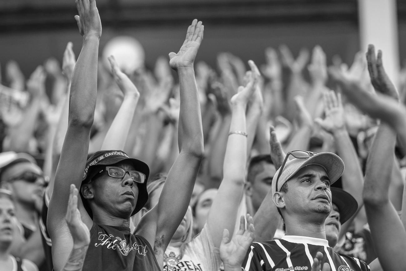 Fotos da torcida do Corinthians