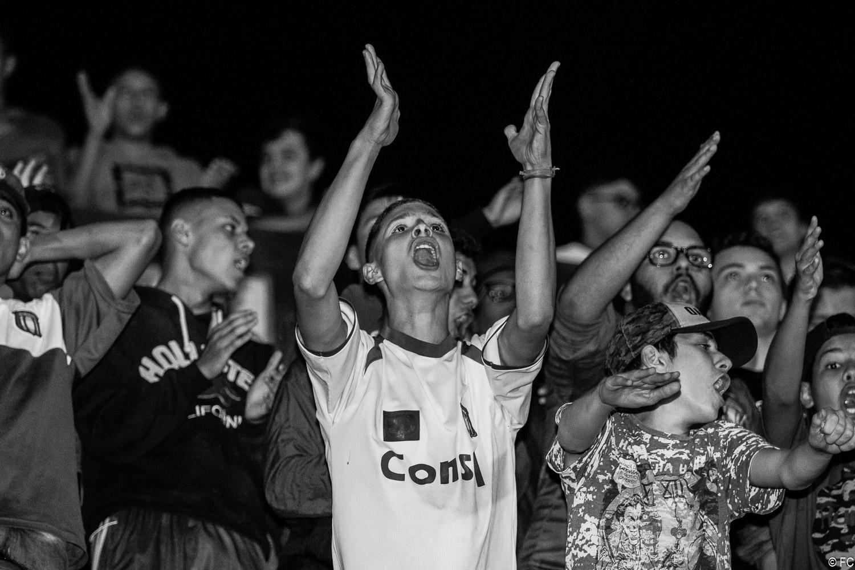 Fotos da torcida em São Caetano x Botafogo-SP
