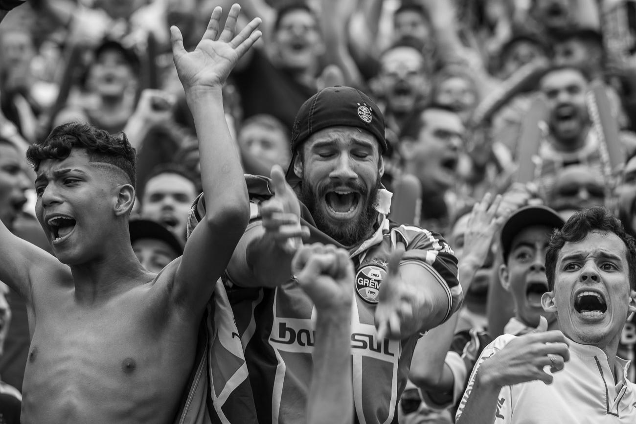 Fotos da torcida em Inter x Grêmio